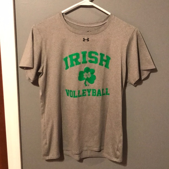 2be7c183 Under Armour Tops | Under Armor Notre Dame Volleyball T Shirt | Poshmark